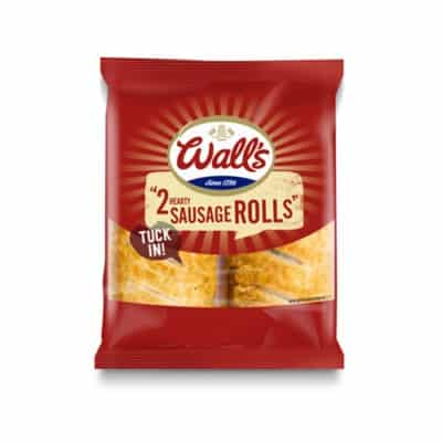 2 Wall's hearty sausage rolls