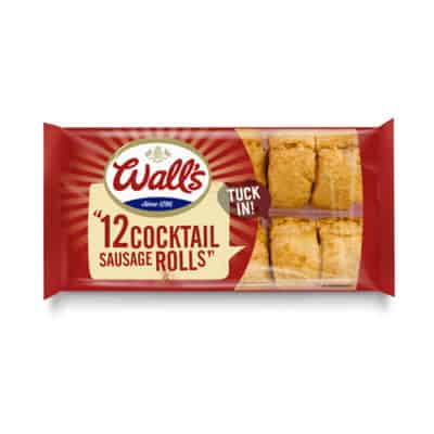 12 Wall's cocktail sausage rolls in packaging