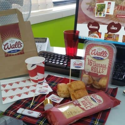 Wall's food bundle on office desk
