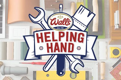 Wall's helping hand competition logo