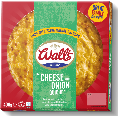 Wall's Pastry Cheese and Onion Quiche