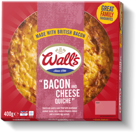 Wall's Pastry Bacon and Cheese Quiche